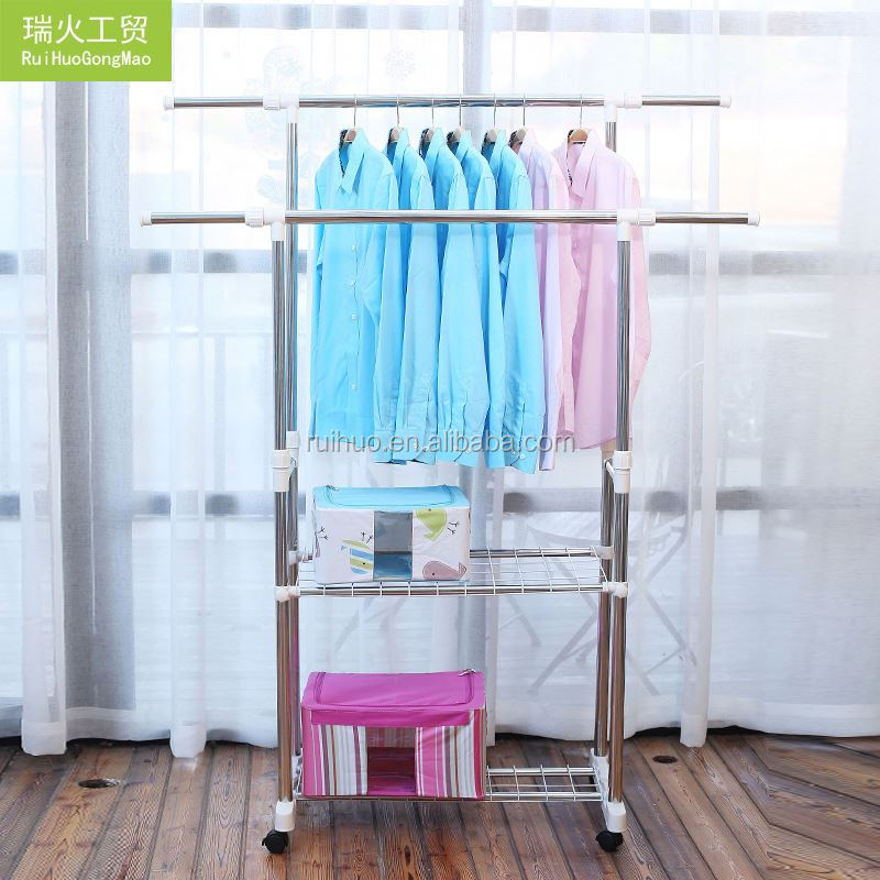 New hotsale extendable stainless steel movable clothes drying hanger rack