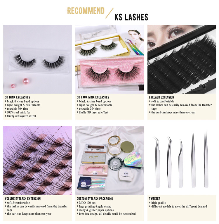 KSlashes Wholesale Einzelhandelsmarke 3D Nerz Eyelash
