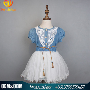 d4a24663a9fa 2017 Forwishes Kids Denim Girl Clothes 18 Month-6 Years Children ...