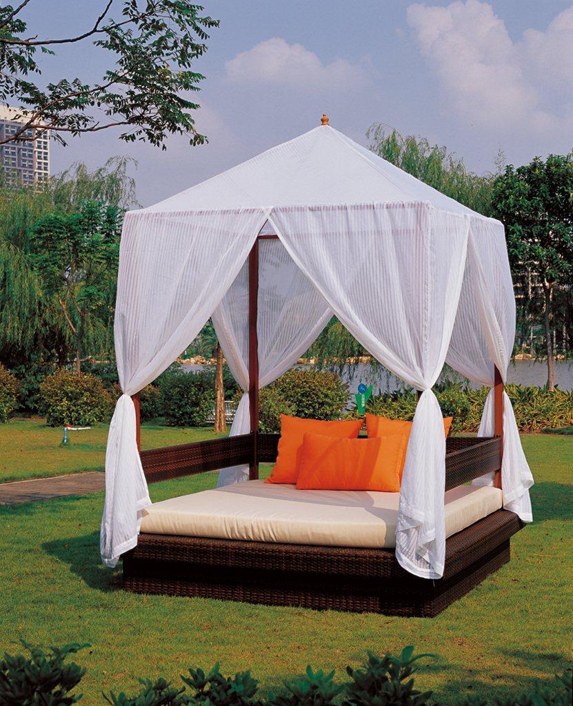 Garden Cheap Patio Wicker Sun Bed Rattan Outdoor Daybed