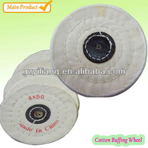fine finishing soft circle with sewn alloy finishing buffing wheel.
