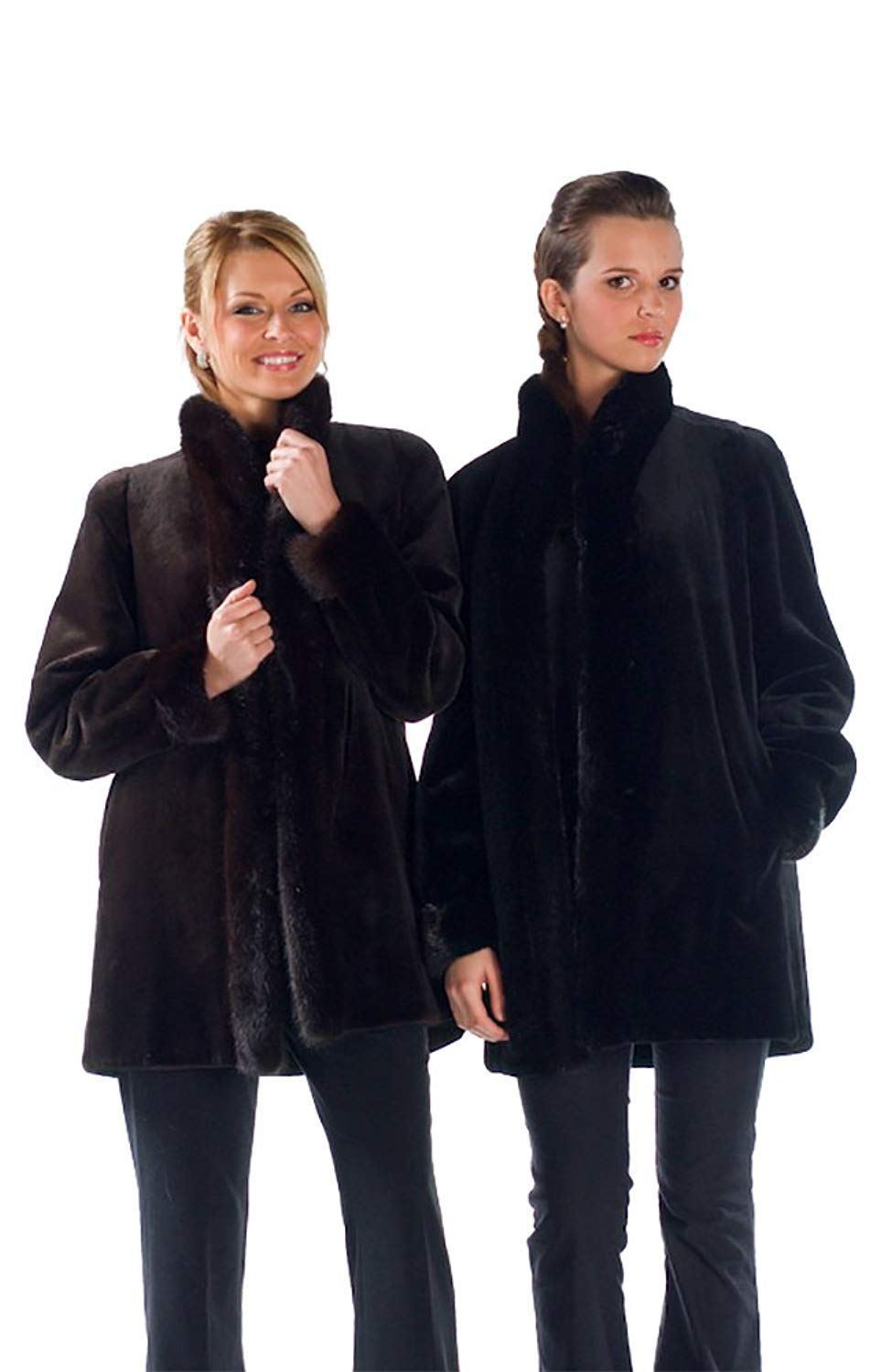 Madison Avenue Mall Reversible Sheared Mink Fur Coat Jacket For Women