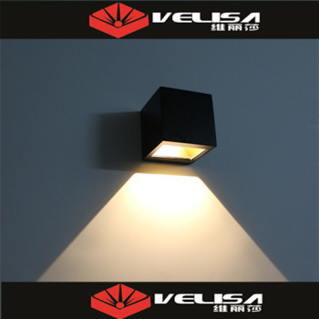 2*(3*1W) LED Exterior Wall Light Fitting/outdoor Wall Mounted