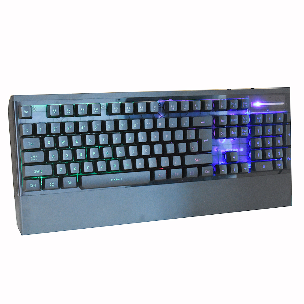 Incisione Laser Arcobaleno di Colore LED Professionale Gaming Keyboard per Gamer