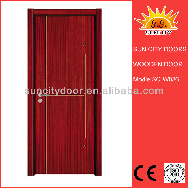 China Nature Wood Room Door/gate Design Sc-w036