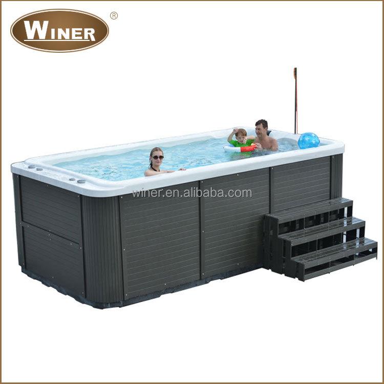 billige acryl mini portable outdoor swim spa whirlpool. Black Bedroom Furniture Sets. Home Design Ideas
