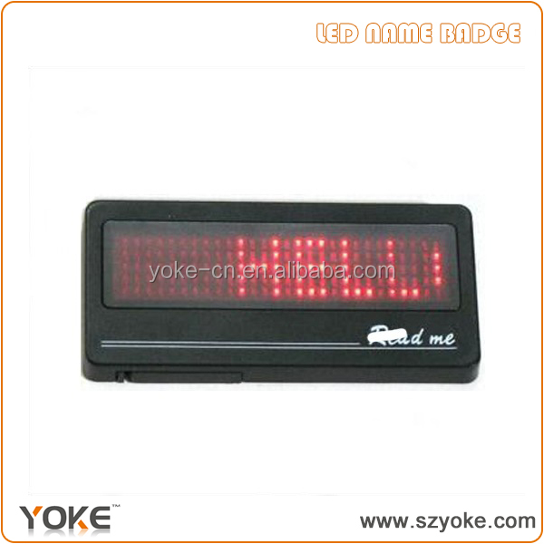 5*28 dot matrix red led name badge,led name tags,led name card