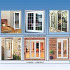 U PVC window and door/pvc window with roller shutter/pvc toilet door pvc bathroom door price