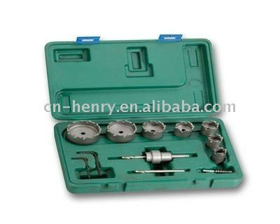 Tungsten Carbide Hole Saw Set 12PCS For steel