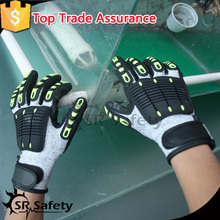 SRSAFETY personal protective anti impact gloves mechanical work gloves/safety gloves
