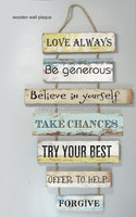 Shabby chic wooden plaque signs wholesale