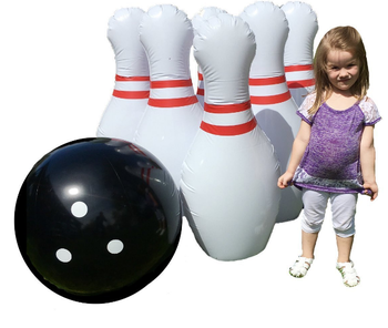 indoor outdoor giant inflatable bowling set game kids plastic bowling set