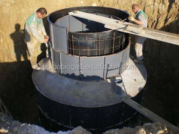 PUXIN cement 10m3 20m3 size biogas household biomass digester