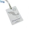 High quality plastic pvc tag lanyard business luggage card with transparent pvc strip