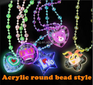 flashing necklaces Luminous crystal necklace Children toys wholesale