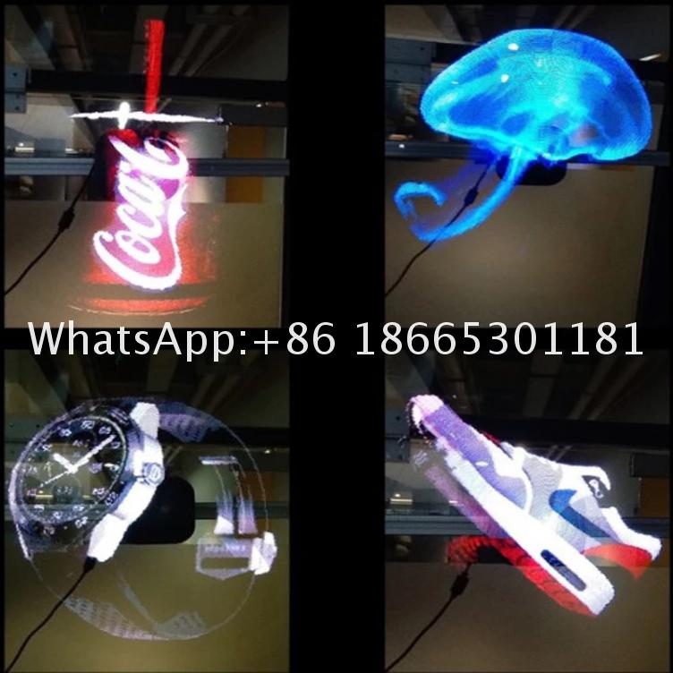 Free Shipping 42CM Size WITH WIFI 3D Hologram Display 3D Projector Hologram Display LED Fan