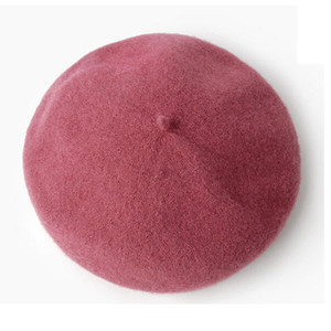 winter high quality fashion basic women wool beret hats/winter hat women 100%wool beret