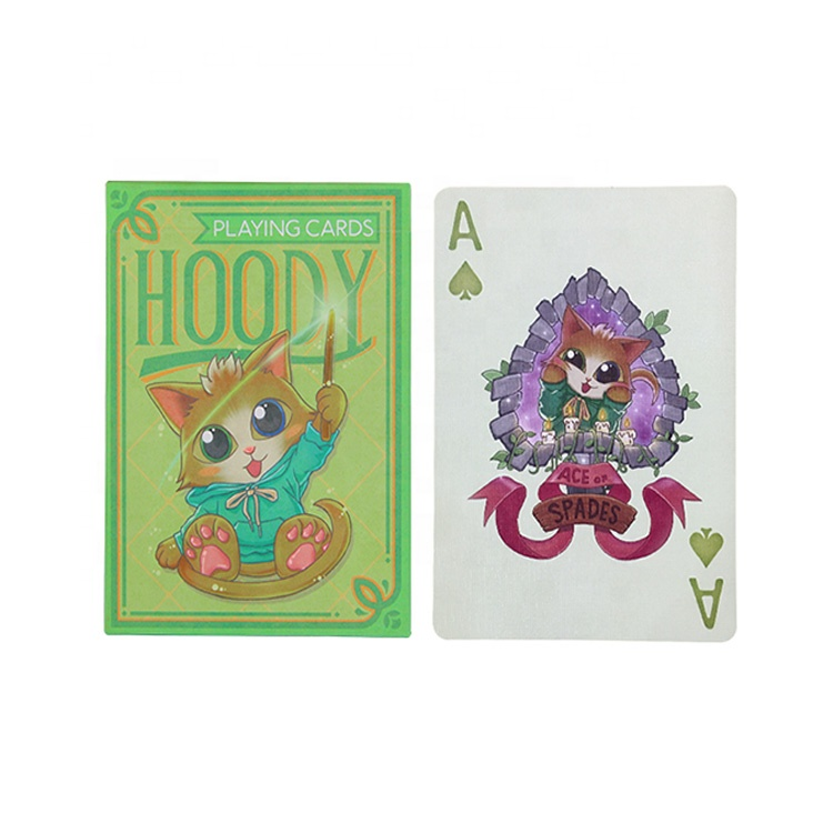Custom Silver Edges Paper Playing Cards Big Size Playing Cards Wholesale