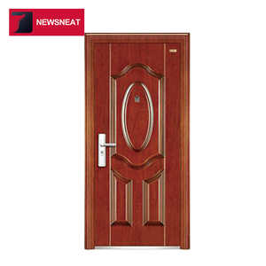 Popular steel security door design metal main entry door swing door for home