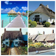 Favorites Compare Bali huts fireproof synthetic thatch/ palm leaf thatch