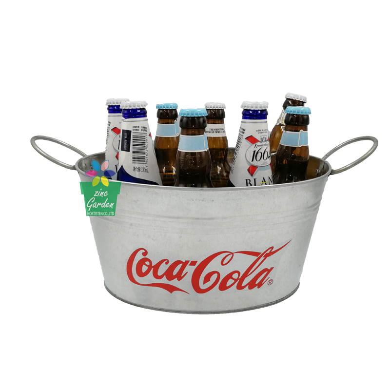 Factory custom barware galvanized beverage tub for the beer