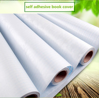 china factory clear pvc self adhesive plastic vinyl book cover roll