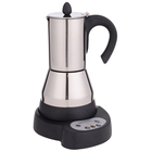 Italian electric stainless steel espresso moka coffee machine battery operated coffee maker