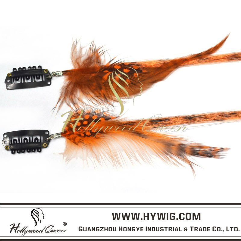 Grizzly Rooster Feather Hair Extensions