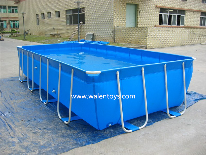 Pl stico retangular piscina metal frame piscina grande for Piscinas pvc baratas
