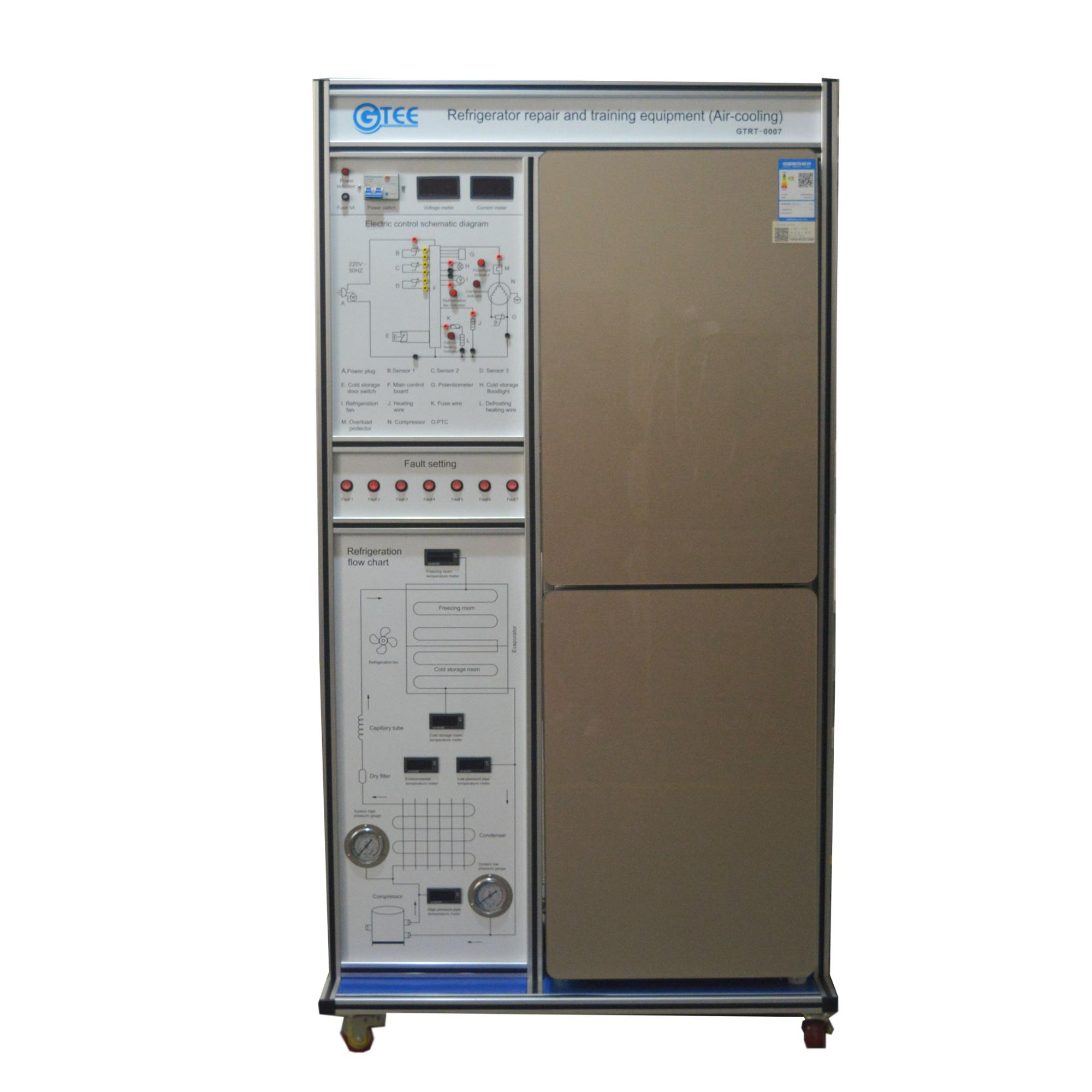 Vocational Skill Lab Refrigerator Repair And Training Equipment Air Cooling Schematic Dsc 0024 4