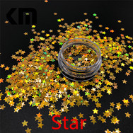 White Color Customized 6MM Artificial Snowflake Shape Glitter for Christmas Decoration