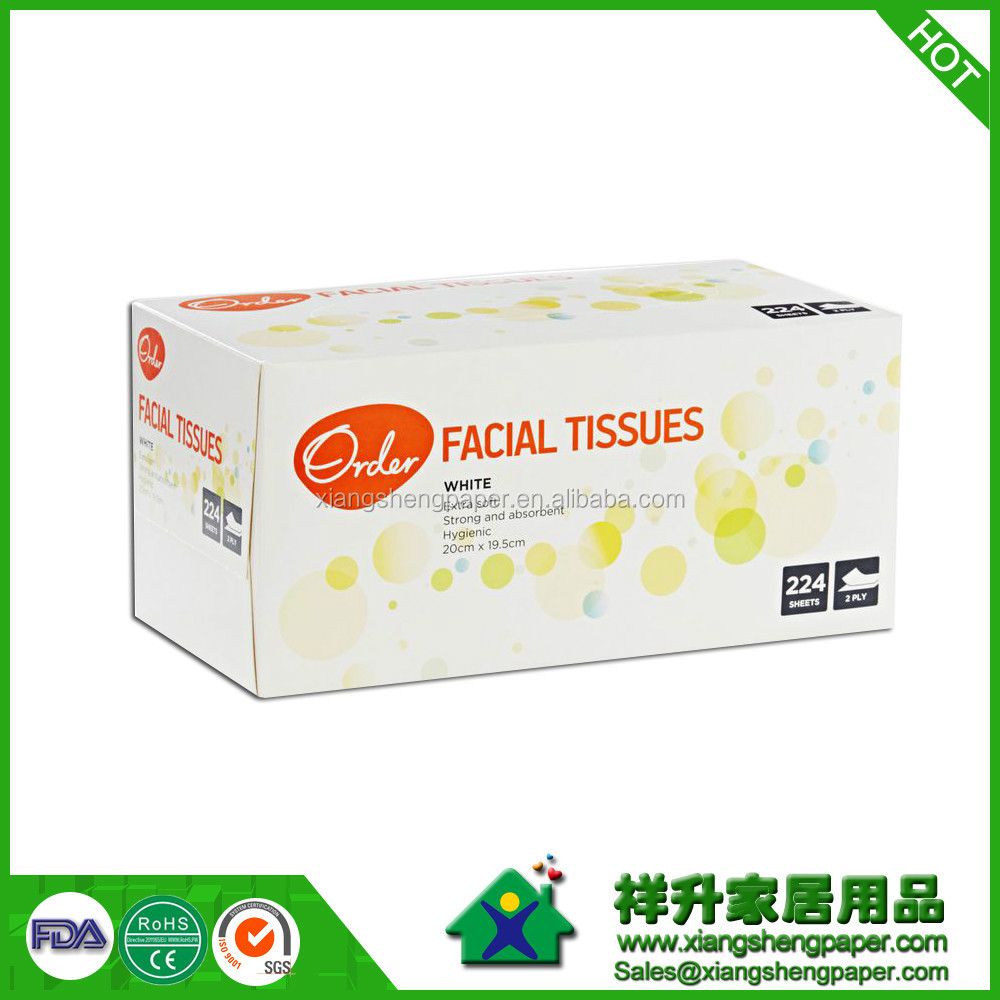 Facial Tissue Type and soft plastic pack Style Hygiene pop up tissue
