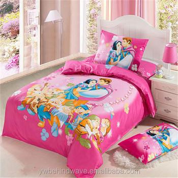 Red Cartoon 3d Bedsheets Pure Cotton 3d Children Bedding Set