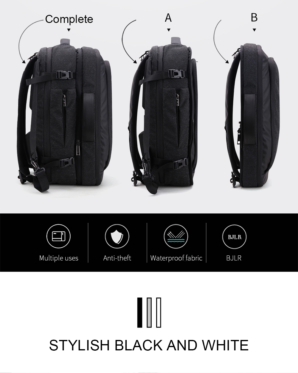 10741c599a  ARCTIC HUNTER  Disassemble Multifunction 17 inch Laptop Backpacks For  Teenager Business Male Mochila waterproof
