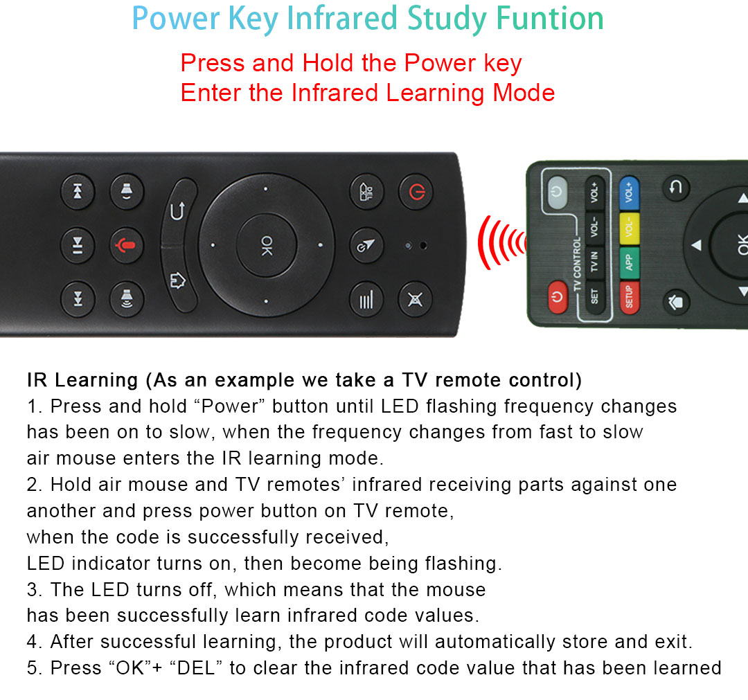 G20 Air Mouse 2.4G wireless keyboard and mouse with Gyro Sensing Game For remote control Android TV Box mini pc