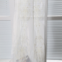 Best selling cheap hotel embroidery curtain fabric for hotel interior decorating