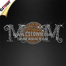 Sports cheer team shining transfer rhinestone basketball