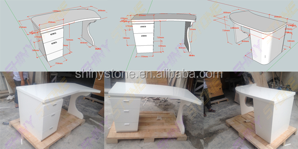 Artistic Design Solid Surface Ceo Executive Desk Manager Table ...