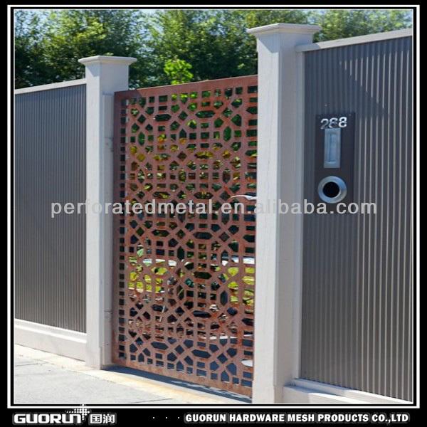 Lasergeschnitten metall bildschirm tor andere h usliche for Door to gate kontakt