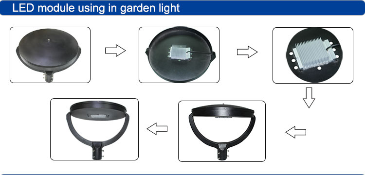 High brightness China SMD3535 CRI80 IP65 50w led module for led garden light