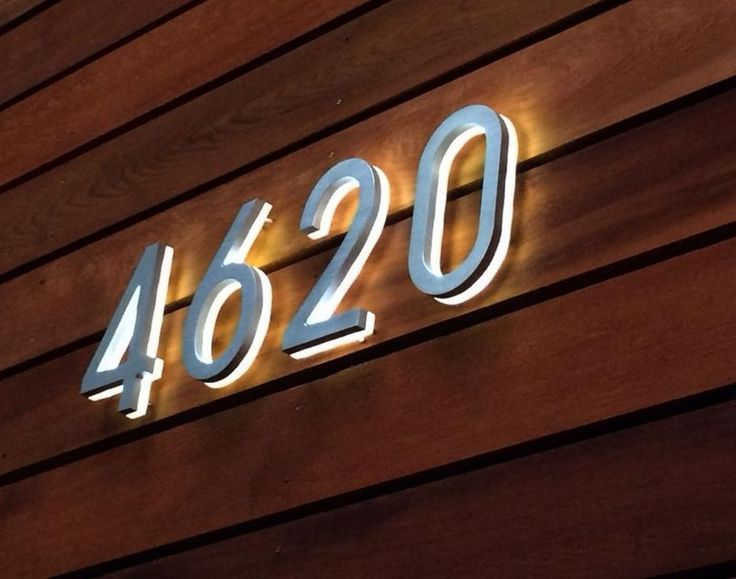 3d Led Backlit Brushed Stainless Steel House Number With Blue Light Letters View 3d Led Backlit