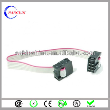 1.27mm Ul2651 28awg 6 Pin 6-conductor Flat Ribbon Cable With 2.54 ...