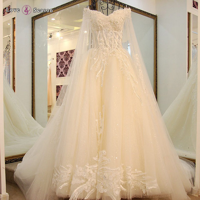 LS16019 Long Trail Real Made To Measure Dresses From China Wedding Gowns And Bridal Dress 2017