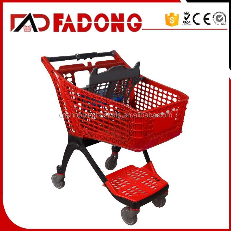 Retail PP plastic galley shopping cart trolley