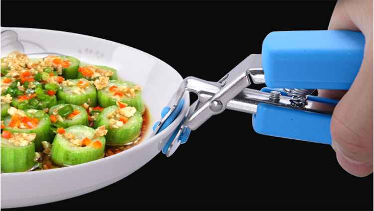 High quality stainless steel silicone bowl clip for household