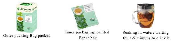 Lifeworth organic chinese white tea bags - 4uTea | 4uTea.com
