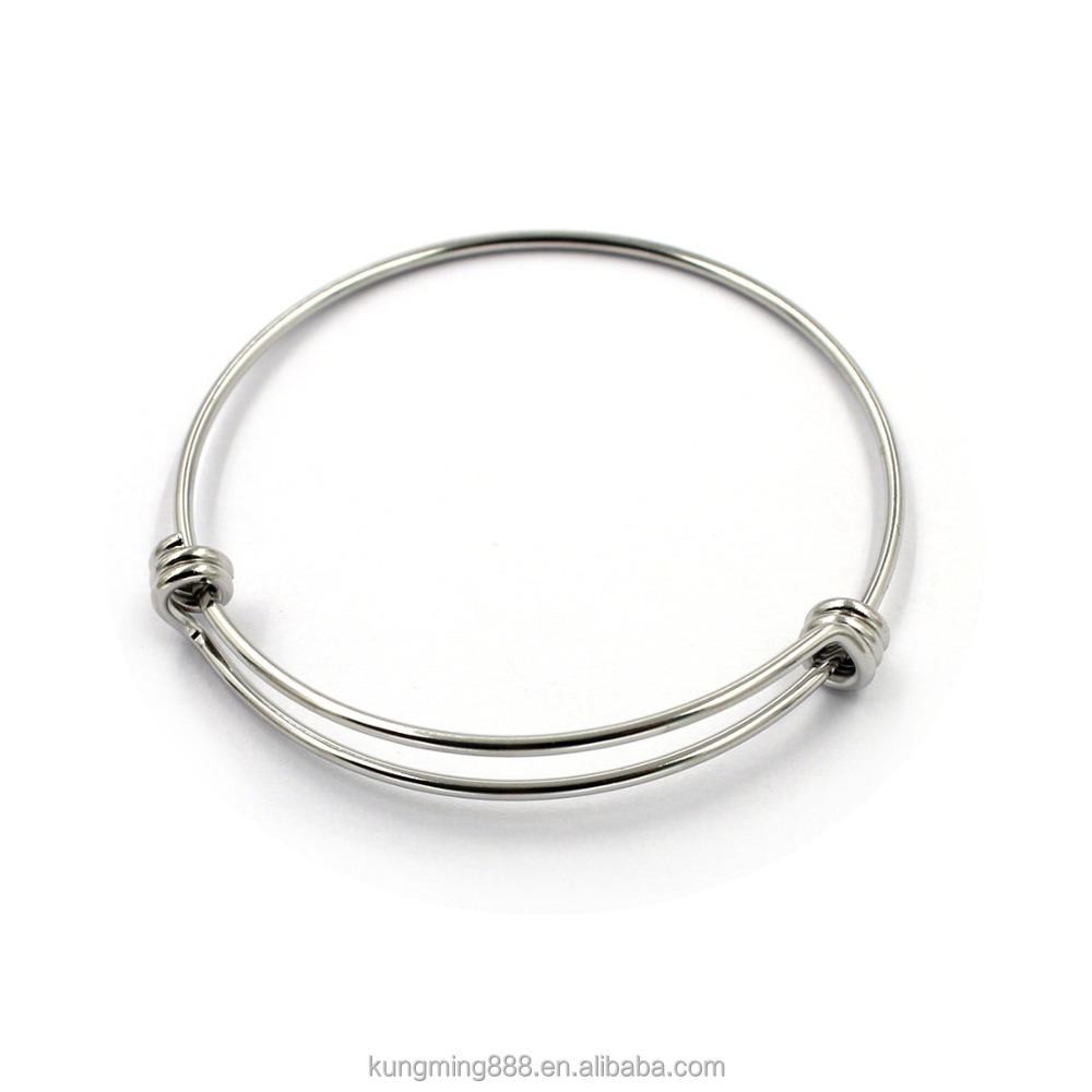 Cheap Accessories silver bracelet wristband expandable wire bangle