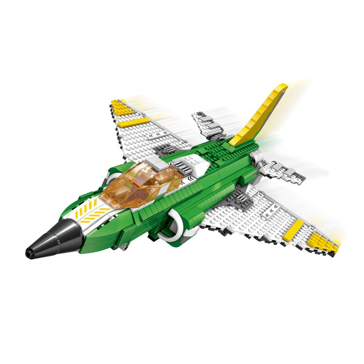 Powerful super intelligence 3 in 1 airplane model set building blocks toys