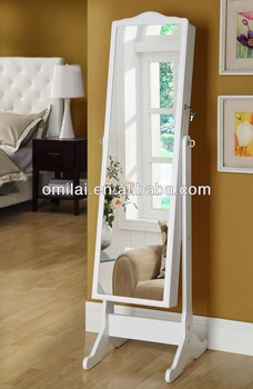 Mirror Jewellery Armoire Jewelry Cabinet Cupboard Furniture Bathroom  Bedroom Box