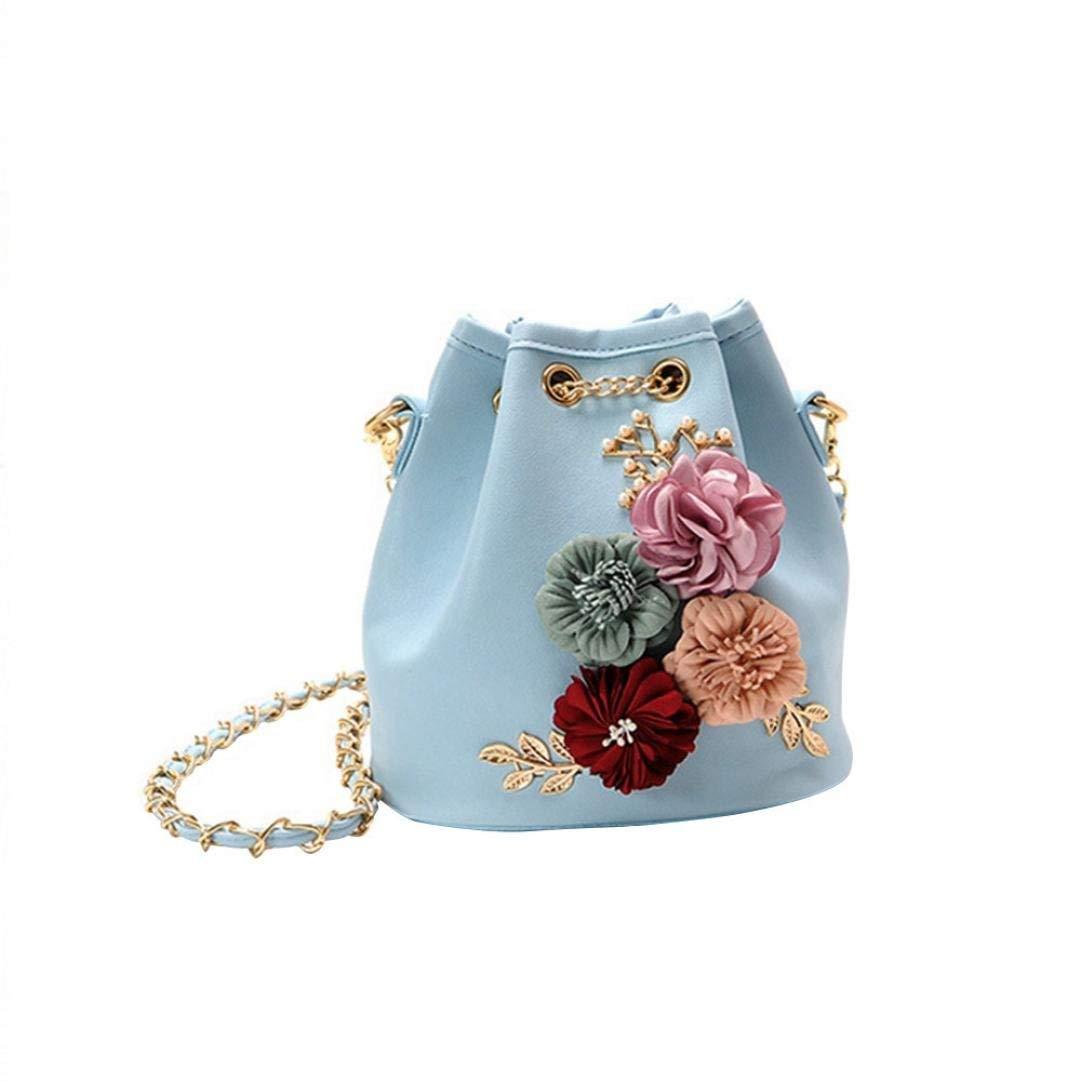 Women Crossbody Bag,BCDshop Bag Ladies Fashion Flower Bucket Bag Shoulder Messenger Bags